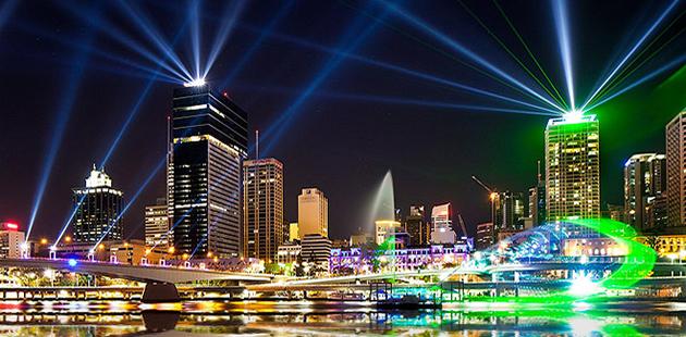 Brisbane festival at night