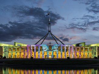 Parliament House Canberra at Enlighten