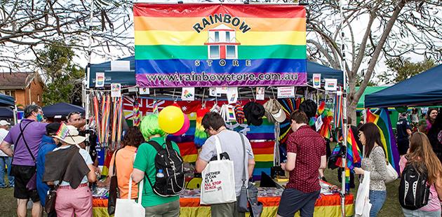APN Brisbane Pride Fairday 2014 Rainbow Store