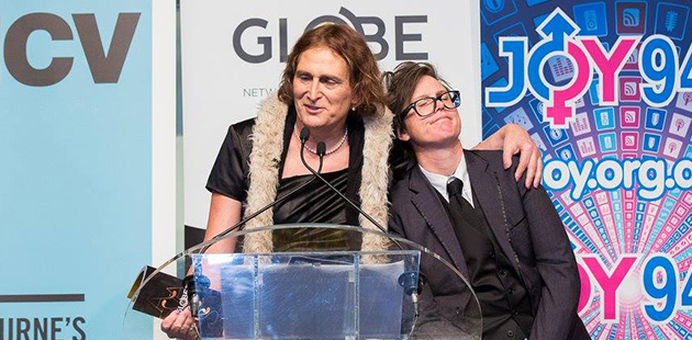 2015 GLOBE Awards Sally Goldner Hannah Gadsby Amplify Event Photography