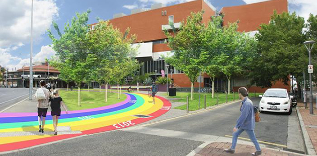ACC Rainbow Walk artist impression