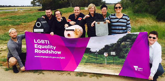 Commissioner Ro Allen with members of the LGBTI Equality Roadshow