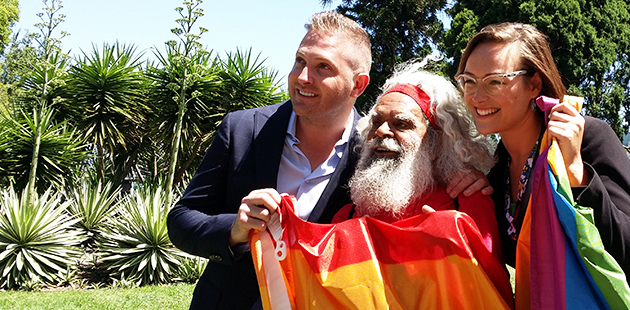 CoPP John Caldwell, Uncle Jack Charles and Cr Katherine Copsey
