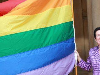 City of Sydney Lord Mayor Clover Moore Rainbow Flag