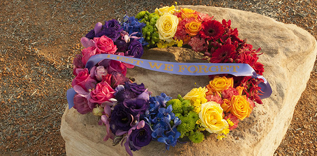 2017 DEFGLIS Commemorative Rainbow Wreath