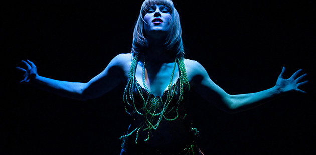 Holly Durant as Salome Finucane & Smith's Glory Box - photo by Paul Dunn