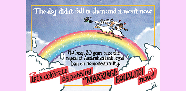 Marriage Equality postcard editorial APN