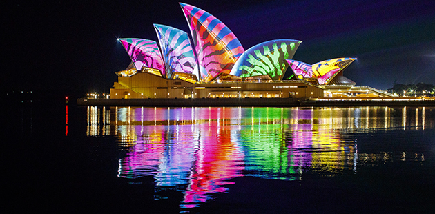 Vivid Sydney 2017 Lighting Of The Sails - photo by Audio Creatures APN