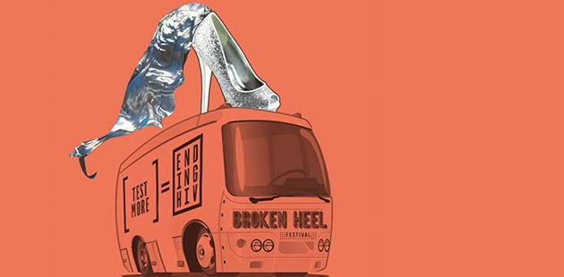 ACON Broken Heel Festival Ending HIV Bus