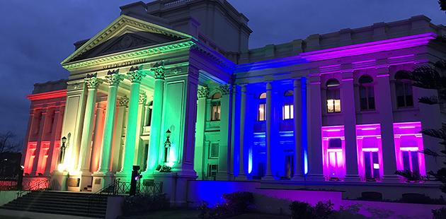 St Kilda Town Hall Rainbow APN