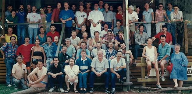 TC A Victorian AIDS Council volunteer training weekend in Kyneton Victoria, 1987 - Australian Lesbian and Gay Archives