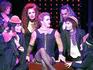 The Rocky Horror Show Craig McLachlan with 2014 cast - photo by Jeff Busby