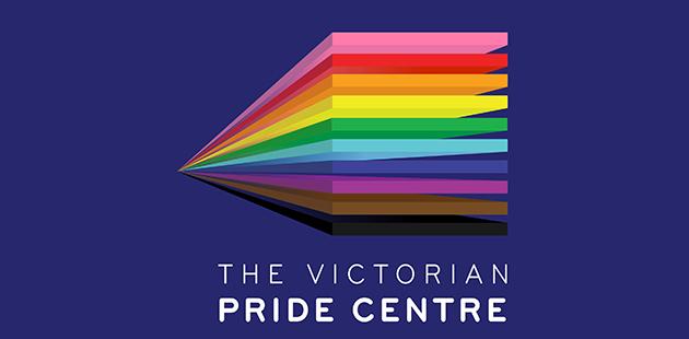 Victorian Pride Centre Logo Blue background main