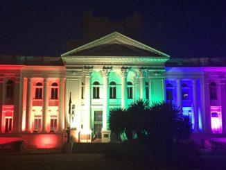 St Kilda Town Hall Rainbow
