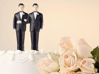 Same Sex Wedding Cake Male