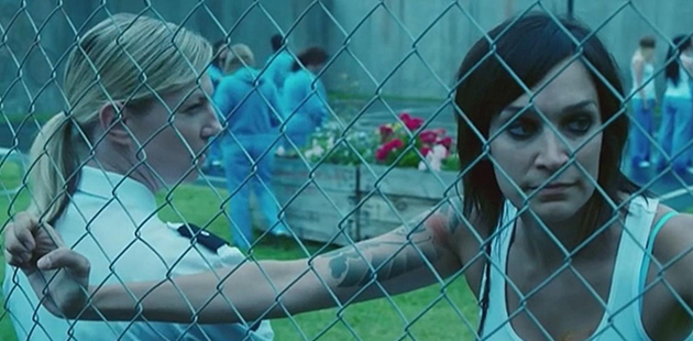 Jacqueline Brennan and Nicole da Silva in Wentworth (2013) - courtesy of FremantleMedia Australia