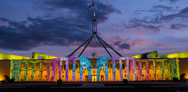 Parliament House Canberra Enlighten APN