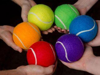 Rainbow Tennis Balls