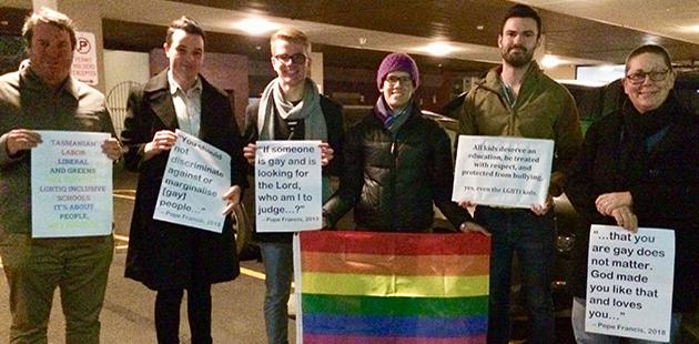 Hobart Anti-Safe Schools Vigil