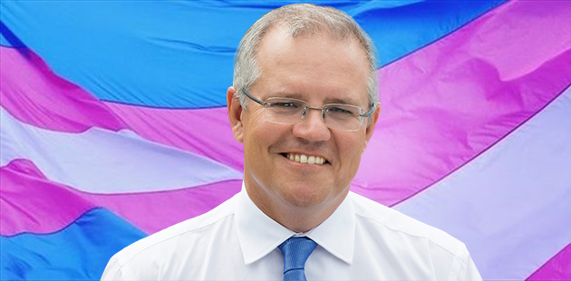 Scott Morrison on Transgender Flag