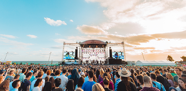 St Kilda Festival 2018 Main Stage – photo by Nathan Doran