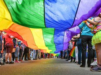 Rainbow Flag Crowd APN