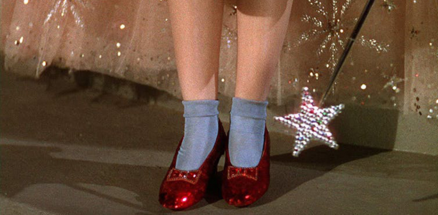 MGM Dorothy's shoes in The Wizard of Oz AAR