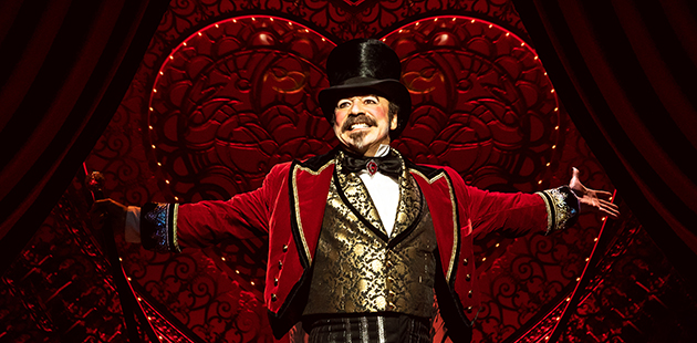 Danny Burstein as Harold Zidler in Moulin Rouge! The Musical Broadway production - photo by Matthew Murphy