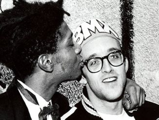 Keith Haring and Jean-Michel Basquiat,1987 - photo by © George Hirose