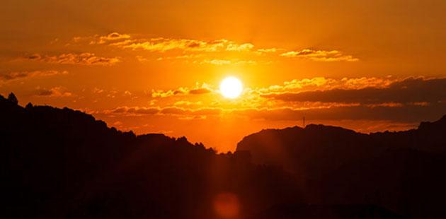 Sun Red Sky