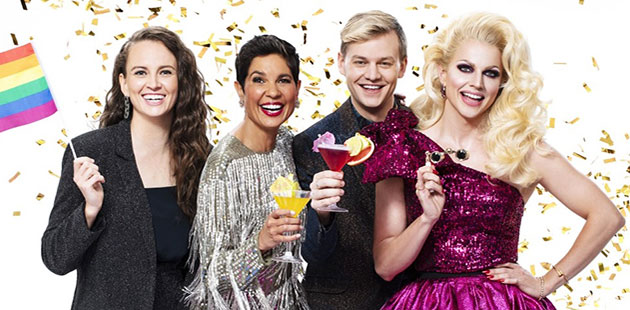 MG Parade Zoe Coombs-Marr, Narelda Jacobs, Joel Creasey and Courtney Act - courtesy of SBS