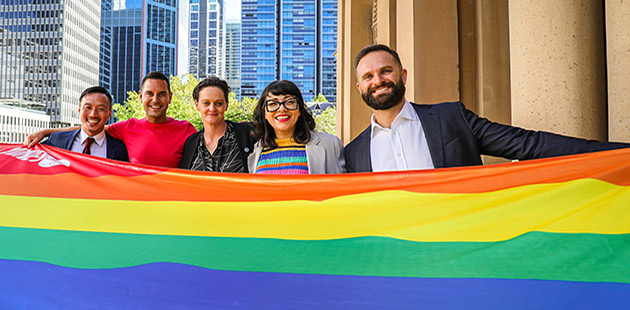 Mardi Gras Flag Raising Ceremony - photo by Katherine Griffiths / City of Sydney