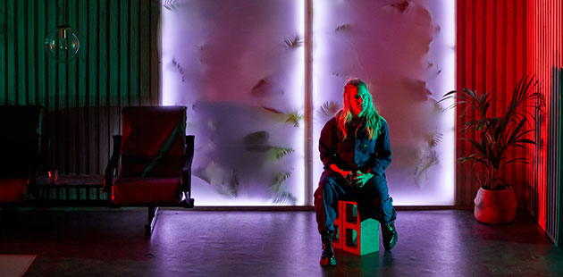 RSAT Michelle Brasier plays Kimberly in The Feather in the Web - photo by Pier Carthew