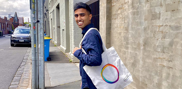 Alvi Ahmed, taken for the Victorian Pride Centre