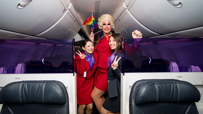 Virgin-Australia-Pride-Flight-Penny-Tration-and-fellow-VA-crew-members