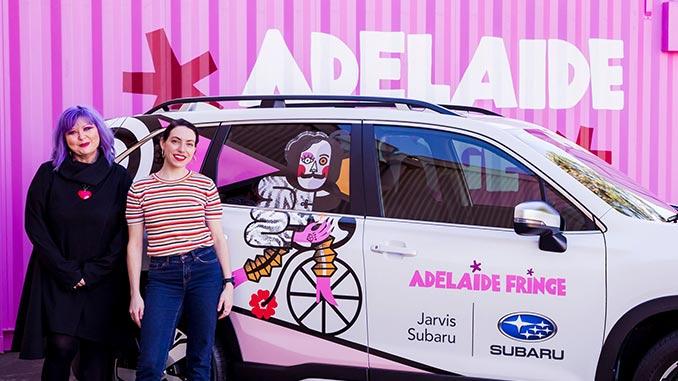 2021-Adelaide-Fringe-poster-winner-Polina-Tsymbal-and-Fringe-director-Heather-Croall-photo-by-Rebekah-Ryan