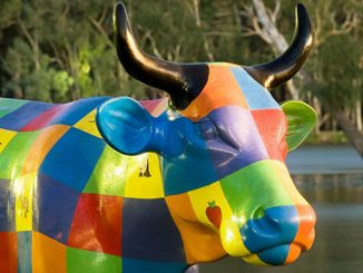 Greater-Shepparton-Moooving-Art-Initiative-Rainbow-Cow-courtesy-of-Visit-Victoria