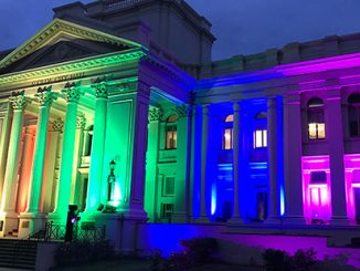 APN St Kilda Town Hall Rainbow