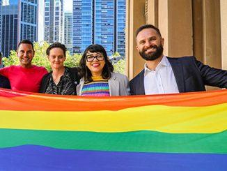 Mardi Gras Flag Raising Ceremony - photo by Katherine Griffiths / City of Sydney