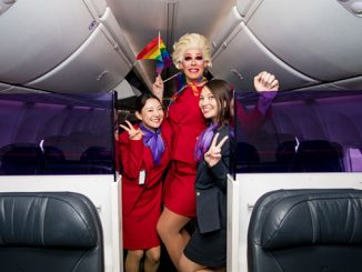 Virgin-Australia-Pride-Flight-Penny-Tration-and-fellow-VA-crew-members